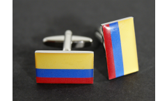 Cufflinks Colombia Flag - 0.8 x 0.5 inch