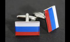 Cufflinks Russia Flag - 0.8 x 0.5 inch
