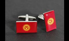 Cufflinks Kyrgyzstan Flag - 0.8 x 0.5 inch