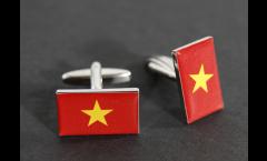 Cufflinks Vietnam Flag - 0.8 x 0.5 inch