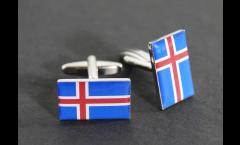 Cufflinks Iceland Flag - 0.8 x 0.5 inch