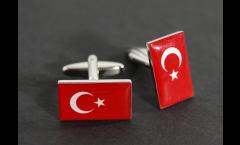 Cufflinks Turkey Flag - 0.8 x 0.5 inch