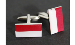 Cufflinks Indonesia Flag - 0.8 x 0.5 inch