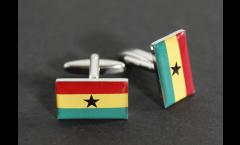 Cufflinks Ghana Flag - 0.8 x 0.5 inch