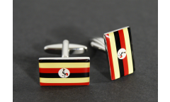 Cufflinks Uganda Flag - 0.8 x 0.5 inch