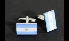Cufflinks Argentina Flag - 0.8 x 0.5 inch