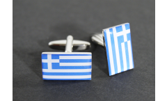 Cufflinks Greece Flag - 0.8 x 0.5 inch