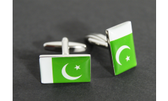 Cufflinks Pakistan Flag - 0.8 x 0.5 inch