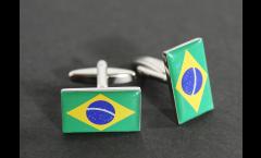 Cufflinks Brazil Flag - 0.8 x 0.5 inch