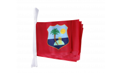 West Indies Bunting Flags - 5.9 x 8.65 inch