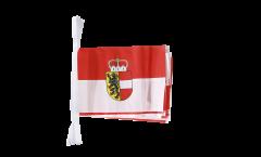 Austria Salzburg Bunting Flags - 5.9 x 8.65 inch