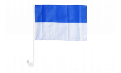 White-Blue Car Flag - 12 x 16 inch