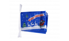 Merry Christmas Santa Claus with sledge Bunting Flags - 5.9 x 8.65 inch
