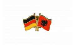 Germany - Albania Friendship Flag Pin, Badge - 22 mm