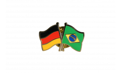 Germany - Brazil Friendship Flag Pin, Badge - 22 mm