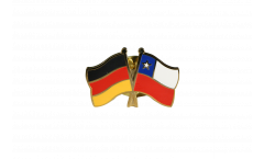 Germany - Chile Friendship Flag Pin, Badge - 22 mm