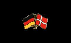 Germany - Denmark Friendship Flag Pin, Badge - 22 mm