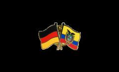 Germany - Ecuador Friendship Flag Pin, Badge - 22 mm