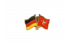 Germany - Great Britain Isle of man Friendship Flag Pin, Badge - 22 mm