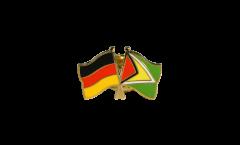 Germany - Guyana Friendship Flag Pin, Badge - 22 mm