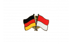 Germany - Indonesia Friendship Flag Pin, Badge - 22 mm
