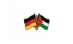 Germany - Jordan Friendship Flag Pin, Badge - 22 mm