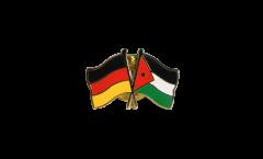 Germany - Jordan Friendship Flag Pin, Badge - 22 mm
