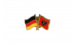 Germany - Montenegro Friendship Flag Pin, Badge - 22 mm