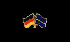 Germany - Nauru Friendship Flag Pin, Badge - 22 mm