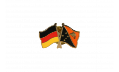 Germany - Papua New Guinea Friendship Flag Pin, Badge - 22 mm