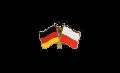 Germany - Poland Friendship Flag Pin, Badge - 22 mm