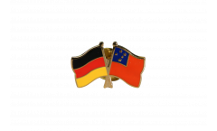 Germany - Samoa Friendship Flag Pin, Badge - 22 mm