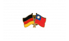Germany - Taiwan Friendship Flag Pin, Badge - 22 mm