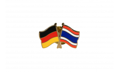 Germany - Thailand Friendship Flag Pin, Badge - 22 mm