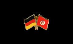 Germany - Tunisia Friendship Flag Pin, Badge - 22 mm