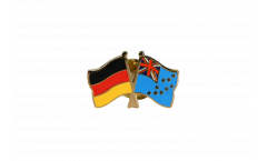 Germany - Tuvalu Friendship Flag Pin, Badge - 22 mm