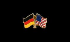 Germany - USA Friendship Flag Pin, Badge - 22 mm