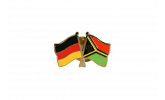 Germany - Vanuatu Friendship Flag Pin, Badge - 22 mm
