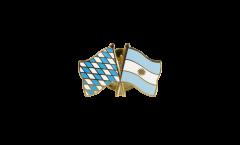 Bavaria - Argentina Friendship Flag Pin, Badge - 22 mm