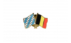 Bavaria - Belgium Friendship Flag Pin, Badge - 22 mm