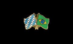 Bavaria - Brazil Friendship Flag Pin, Badge - 22 mm