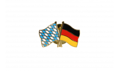 Bavaria - Germany Friendship Flag Pin, Badge - 22 mm
