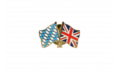 Bavaria - Great Britain Friendship Flag Pin, Badge - 22 mm