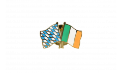 Bavaria - Ireland Friendship Flag Pin, Badge - 22 mm