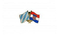 Bavaria - Croatia Friendship Flag Pin, Badge - 22 mm