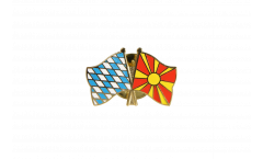 Bavaria - Macedonia Friendship Flag Pin, Badge - 22 mm