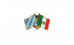 Bavaria - Mexico Friendship Flag Pin, Badge - 22 mm