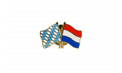 Bavaria - Netherlands Friendship Flag Pin, Badge - 22 mm