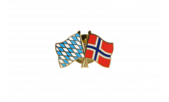 Bavaria - Norway Friendship Flag Pin, Badge - 22 mm