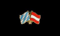 Bavaria - Austria Friendship Flag Pin, Badge - 22 mm